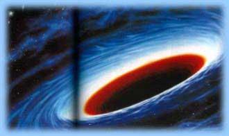 Vue artistique d'un trou noir